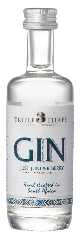 TRIPLE THREE GIN JUST JUNIPER MINIATUR, 0,05L, 43%Vol.